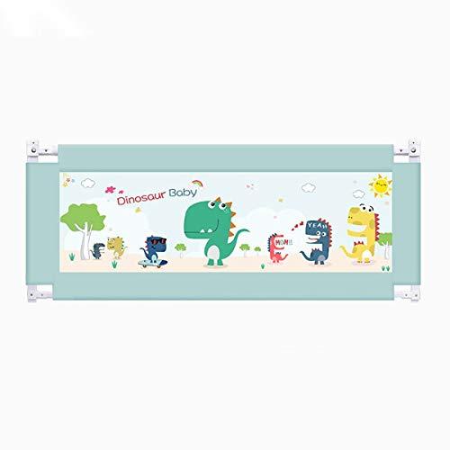 ZOULYD Guardia Bebé Railo Plegable 150 cm Easy Fit Bebé Seguridad Bebé Tall Bed Bed Rail para niños pequeños/Niños/Niños, Color Verde, Robierno y Sólido (Size : 2m)