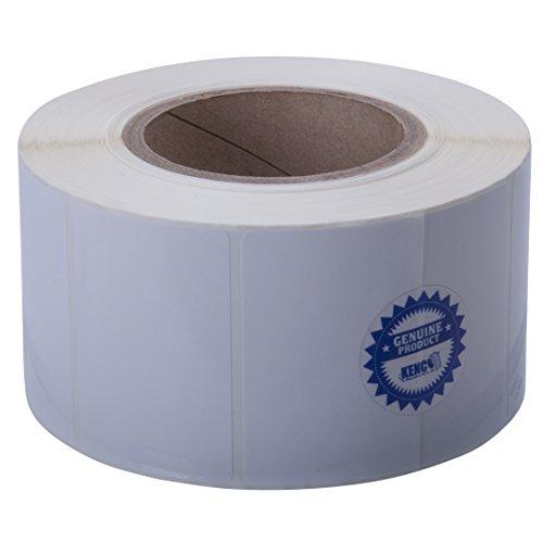 Kenco Premium Inkjet-Etiketten, rechteckig, hochglänzend, 7,6 x 5,1 cm, kompatibel mit Primera Color Label Druckern und vielen anderen Druckermarken Lieferung 1250 Etiketten auf einem 7,6 cm Kern