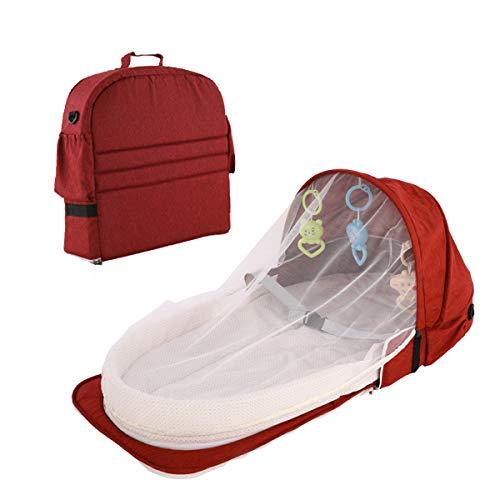 chaochao Cuna Portátil Plegable Cuna de Viaje para Bebé Recién Nacido Tumbona para...