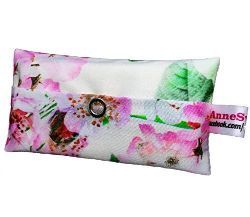 Zakdoeken tas roos bloem design adventskalender vulling kaboutergeschenk meebrenger give away collega's kerst afscheid cadeau