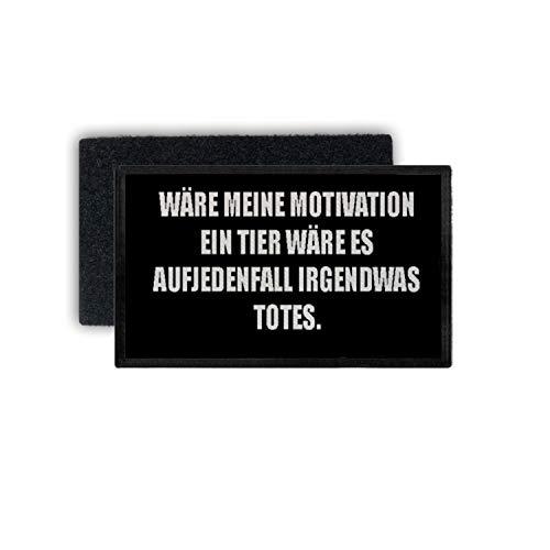 Copytec Patch Motivation Keine Kein Bock Arbeit Fun Humor Lustig Spruch 7,5x4,5cm #34400