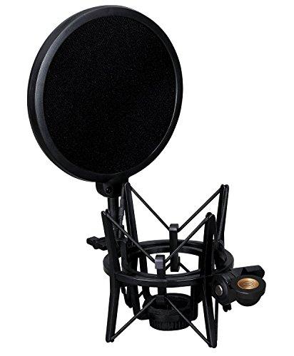 Weymic - Supporto antishock integrato con filtro pop, per microfono a condensatore di grande diametro Audio-Technica AT2020