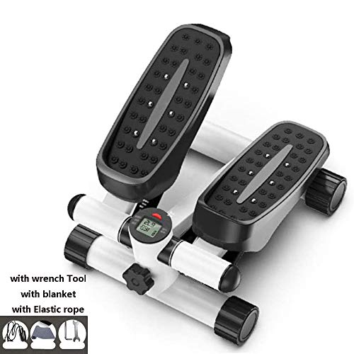 Review ESACLM Stepper Exercise Machine for Home, Mini Aerobic Stepper with Power Ropes Household Sil...