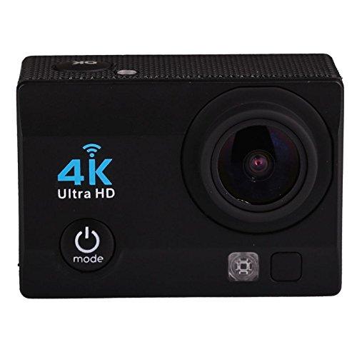 NK NK-AC3061 - Cámara Deportiva Subacuática 4K (Ultra-Alta Definición) HD 16MP, WiFi, Carcasa Impermeable 30M, 170º Gran Angular, Sensor Ultra-Avanzado Toshiba, 900mAh, HDMI USB, Negro
