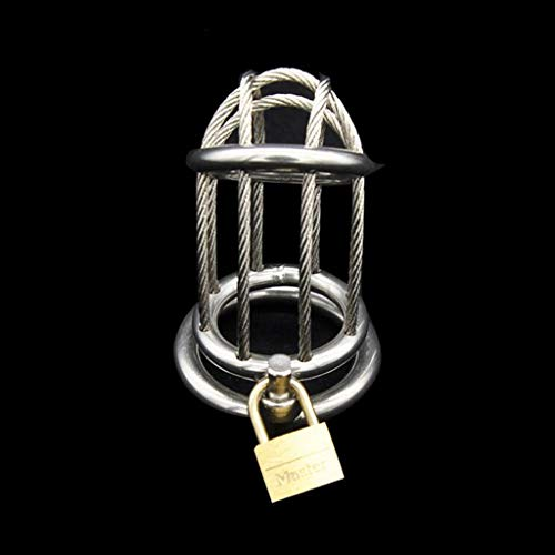 CJWWEI Metall Edelstahl Chãstity Lock Male Pënis Lock ádult Wearable Massage Produkte (Size : 40mm)