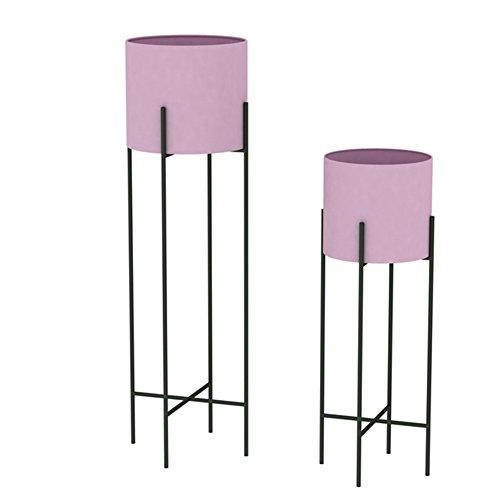 Etagère De Fleur Pot Cadre De Bonsaï en Fer Forgé, Cadre Fleur, 23cm * 23cm * 80cm, Rose/Vert FenPing (Couleur : Pink-Combination)