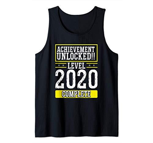 Logro desbloqueado Nivel 2020 Año nuevo completo Camiseta s
