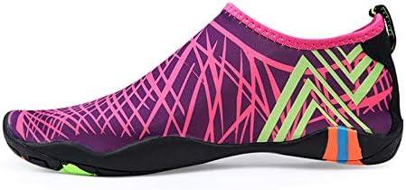 YINI Sneakers Men Women Barefoot Beach Water Shoes Lovers Outdoor Fishing Swimming Bicycle Quick-Drying Aqua Shoes Zapatos De Mujer (Color : Purple, Shoe Size : 8)