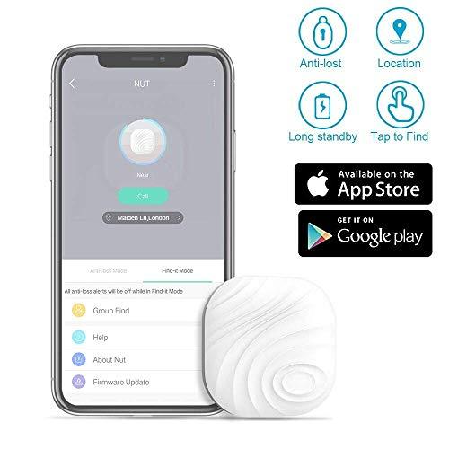 Localizador de llaves – Evershop Bluetooth rastreador GPS localizador cartera teléfono llave anti pérdida bidireccional recordatorio de alarma para teléfono, mascotas, llavero, cartera