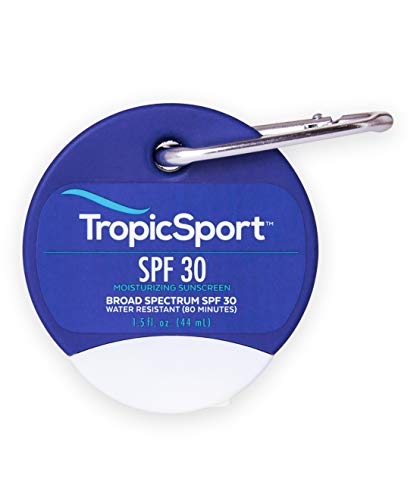 TropicSport Mineral Sunscreen Lotion SPF 30, Reef Friendly, Water Resistant, Broad Spectrum, Natural Organic, Kids and Family Friendly, Gluten Free, Paraben Free, Non-Nano, Clear Apply 1.5 Ounce…