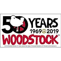 "WOODSTOCK 50th ANNIVERSARY STICKER - American Music Festival WOODSTOCK 50th 1969-2019 Artwork Vinyl STICKER, 3"" x 5.5"""