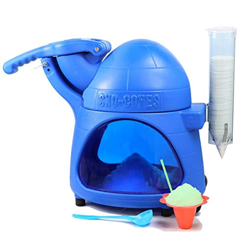Paragon Cooler Snow Cone Machine for Professional Concessionaires Requiring Commercial Heavy Duty Snow Cone Equipment 1/3 Horse Power 792 Watts