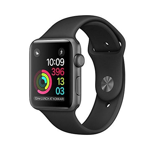 Apple Watch Series 2 - Cassa 42 mm in Alluminio Grigio Siderale - Cinturino Sport nero (Ricondizionato)