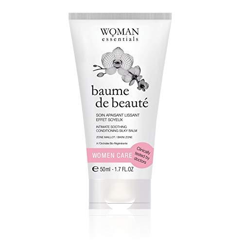 Woman Essentials BAUME DE BEAUTÉ Intimbereich - Feuchtigkeitsspendende und heilende Creme. Beruhigende Tagespflege - Pflegeeffekt Bikini - 50 ml