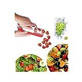 Affettatrice Per Ciliegie,Affettatrice uva frutta verdura,Facile da Lavare e Utilizzare Distributore di frutta, Creativa Gadget da cucina.
