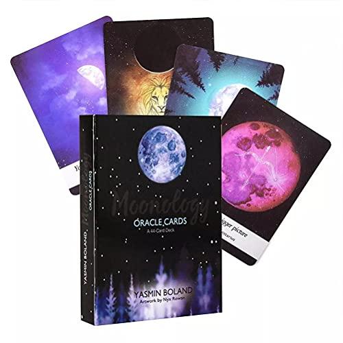 Moonology Oracle Tarjetas Tarot Tarjeta Divinación Divinación Entretenimiento Tabla Tablero Deck Games Fiesta Familia Regalo Tarjetas Jugadas