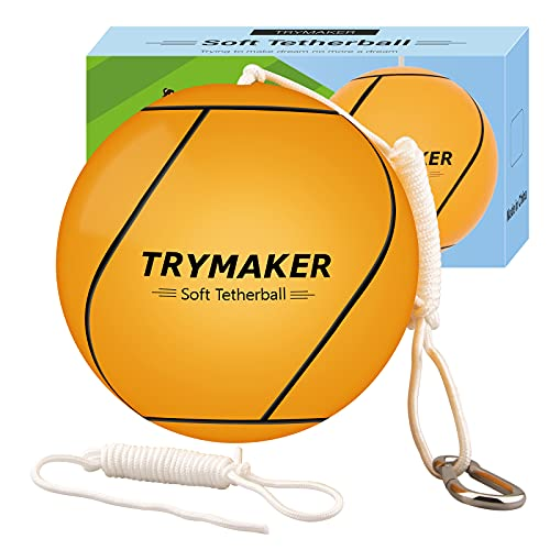 Trymaker Tetherball, Tether Balls and Rope Set for Kids,Replacement Tetherball for Adults Backyard Outdoors