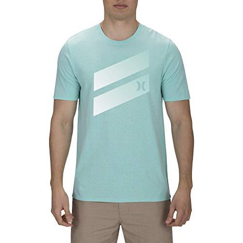 Hurley Premium Icon Slash Gradient tee Camiseta de Manga Corta, Hombre, Verde (Tropic Twist htr), S