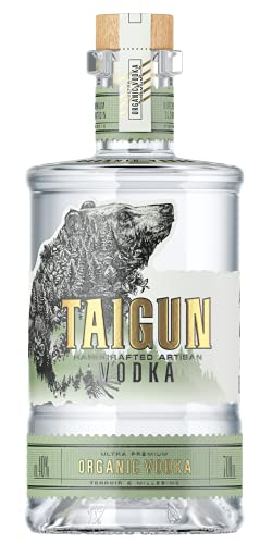 TAIGUN® Bio-Premium-Wodka, aus 100% Prärie-Bio-Winterweizen und reinstem Gletscherwasser hergestellt, nachhaltig, der hochwertigste Weizen Vodka der Welt, Made in Russia (0,7 l)