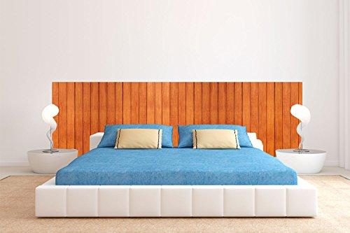 Cabecero Cama PVC Textura Madera Clasico 200x60cm | Disponible en Varias Medidas | Cabecero Ligero, Elegante, Resistente y Económico