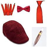 thematys Al Capone Mafia Gangster Hut + Fliege + Krawatte + Hosenträger + Zigarre - 20er Jahre...