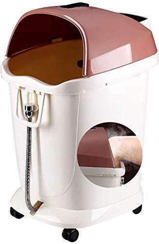 Elektrische voetmassage-voetenbad barrel 66 cm hoog diepe footbath automatische massage voetbad huishoud-elektrische verwarming voetbad barrel over het been voetmassagemachine 45 x 40 x 66 cm, wit