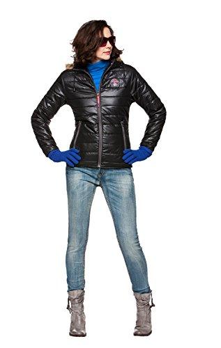 Nebulus Jacke MOUNTY, Felljacke, sehr warm, Damen, schwarz, Winterjacke, Größe S/36 (Q642)