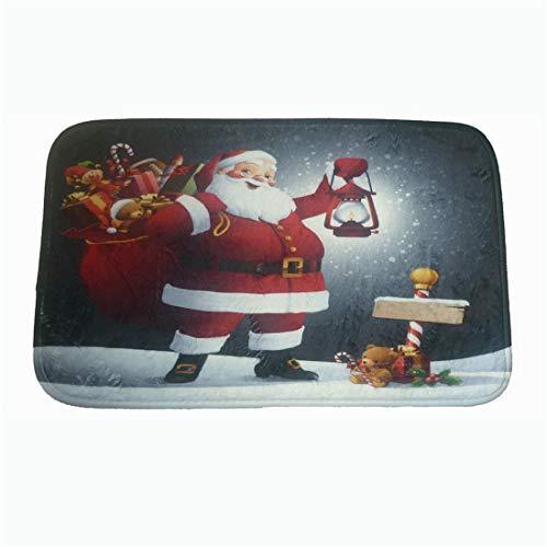 2019 Christmas Decoration Door Mats Outdoor Indoor Front Door Non-Slip Carpets Cushion (C, Size:59x 38cm)