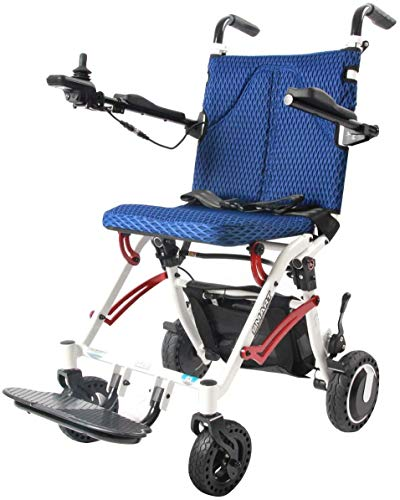 Rubicon Super Lightweight Electric Wheelchairs, Weight Only 36Lbs Support 220 Lbs. (Delivery 2-5 Business Days)