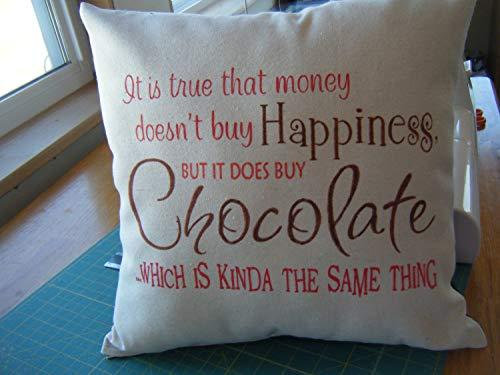Ad4ssdu4 kussensloop geld kan chocolade 18 x 18 inch 45 x 45 cm kopen