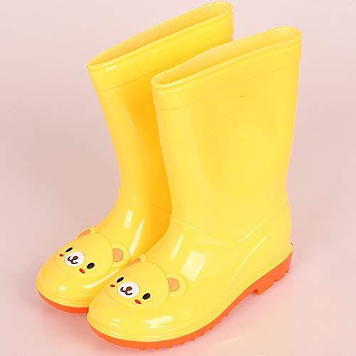 LUFKLAHN Hoch Kinder Regen Stiefel, Comic Kinder Regen Stiefel, Kinderwinter-Regen-Stiefel (Color : D, Size : 36)