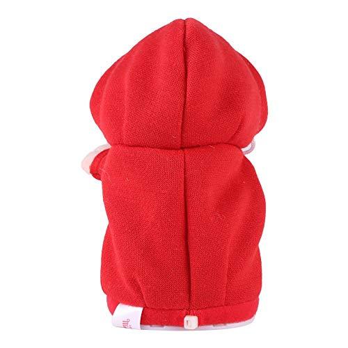 Talking Hamster Plüschtier (blau rot orange optional) PP Baumwolle gefüllt kurzen Plüsch niedlich gutes Gefühl früh Lernen Kinder Baby Geschenk(Rot)