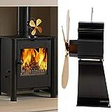 Ventilador de calor, protección contra sobrecalentamiento Ventilador de quemador de madera de aleación de aluminio de calidad resistente al desgaste, para sala de estar en casa