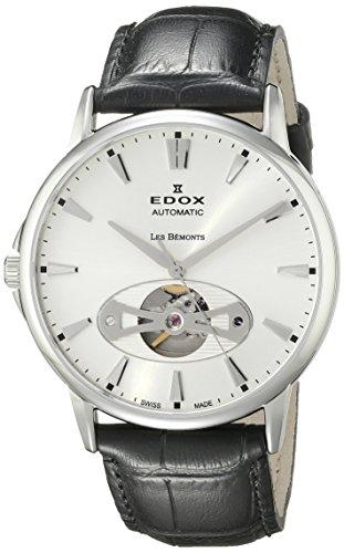 Edox Reloj para Hombre 85021 3 AIN Les Bemonts con Pantalla analógica Suiza automático Negro