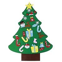 Wosume Ornamenti Natalizi, Tessuto in Feltro di qualità Albero di Natale in Feltro, abilità motorie Fini Albero di Natale Fai-da-Te Coordinazione Occhio-Mano 27 Pezzi Ornamenti per Soggiorno di #6
