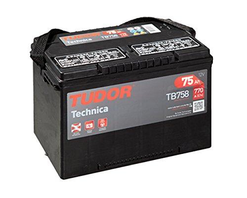 Batería para coche Tudor Exide Technica 75Ah, 12V. Dimensiones: 260 x 180...