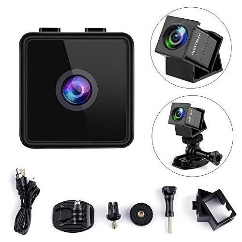 Mini Camera HD Camcorder Mini FPV Camera Hawkeye 1080P Micro Action Camera F2.8 FOV 160° Wide Angle Mini Hidden Camera Sports Camera Built-in Mic with Accessories for Drones&Cycling,Home Security Cam