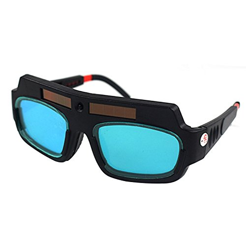 TOOGOO 1 Pieza Máscara De Soldadura De Oscurecimiento Automático Con Energía Solar Casco Gafas De Protección Gafas De Soldador Lente Antichoque De Arco Para Protección Ocular