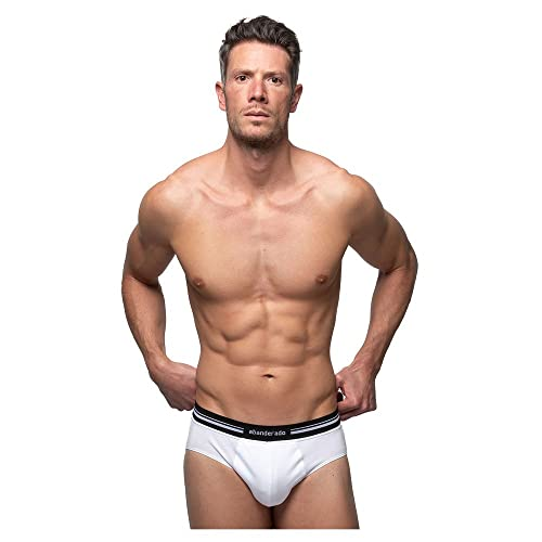 Abanderado Slip con Cinturilla Extra Suave de algodón elástico, Blanco (Blanco 001), X-Large (Tamaño del Fabricante: XL/56) para Hombre