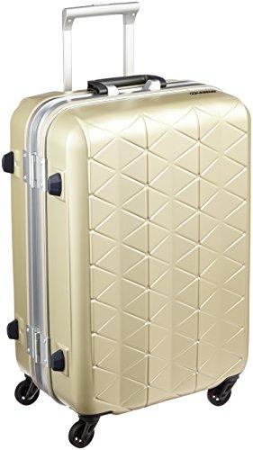 [サンコー] スーツケース フレーム SUPER LIGHTS MG-C 軽量 消音/静音キャスター MGC1-57 56L 57 cm 3.5kg エンボスシャンパンゴールド