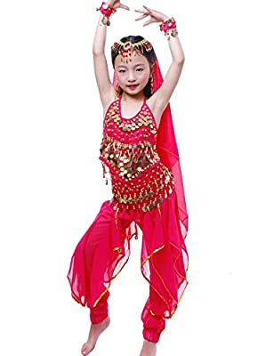 Astage Girls Genie Costume India Belly Dance Arabian Princess Halloween Costume