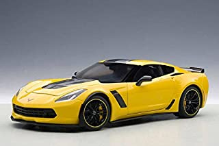 2016 Corvette C7.R Edtion Z06 in Yellow Model in 1:18 Scale by AUTOart