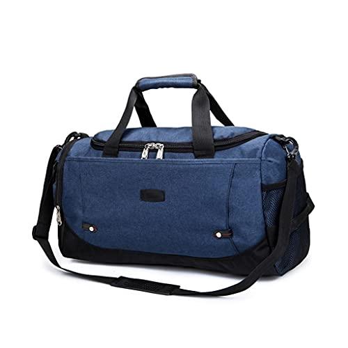 MQH Bolsa de Viaje Grande Viajes Bolsa de Lona para Viajar Gym Sports Duffel Bags Bolsa de semanas de Viaje Grande para Hombres Mujeres Overnight Bag Travel Travel Bolsa de Deporte (Color : Blue)