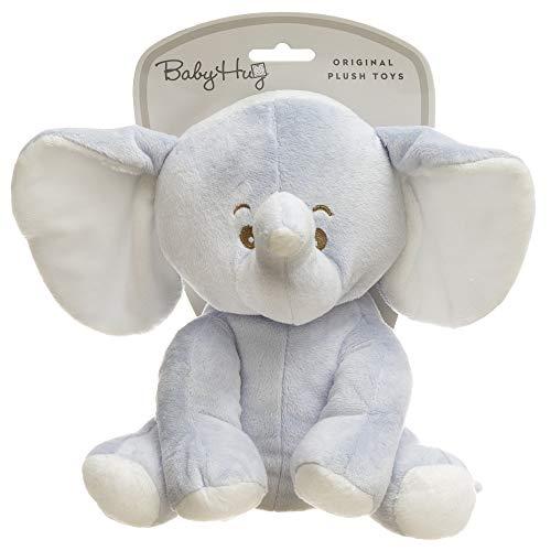 HUG ME Adora_238688 Me Elefant Kuscheltier für Babys, Blau