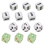 EXCEART Sex Dice Games Sex Dice Bedroom Games Romantic Sex Positions Role Playing Dice for Couples Adult Humour Dice Toys(White)