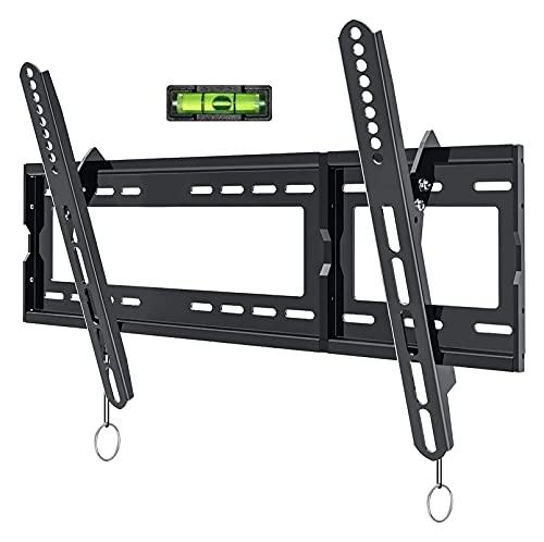 WECDS-E Soporte de Montaje en Pared inclinable para TV de Perfil bajo para la mayoría de televisores de Pantalla Plana de Plasma OLED LCD LED de 32-80 Pulgadas (Color: Negro)