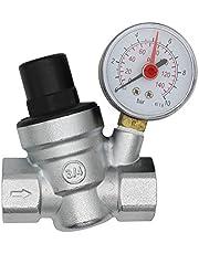 Messing water drukverminderaar met manometer waterdrukregelaar reduceerventiel drukregelaar drukregelventiel aansluiting 1/2 3/4 chroom (3/4 inch)