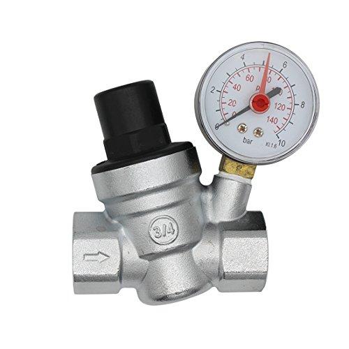 DN20 riduttore di pressione acqua valvola cromata regolatore pressione acqua 3/4 pollice con manometro acqua