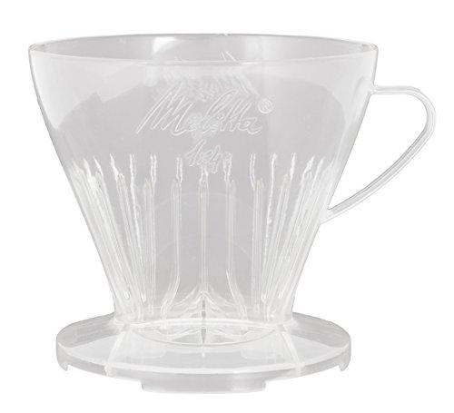 Melitta Kaffeehalter mit Kaffeemesslöffel, Kaffeefilter 1x4 Premium, Kunststoff, Transparent, 217595