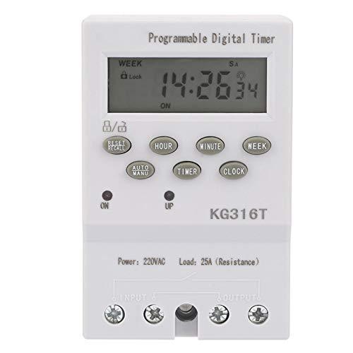 Interruptor de control de tiempo, microordenador de 220 V de alta precisión Interruptor de control de tiempo Interruptor de temporizador digital automático programable, aplicado al control programable